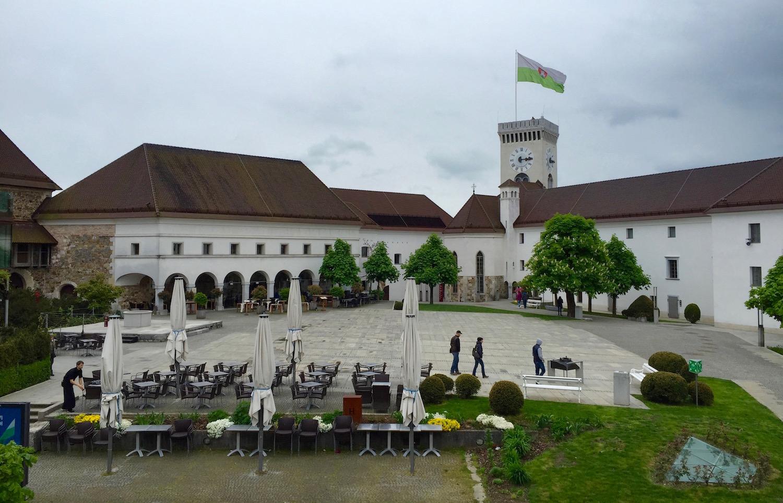 """""""Ljubljanski Grad"""", die """"Burg von Ljubljana"""""""
