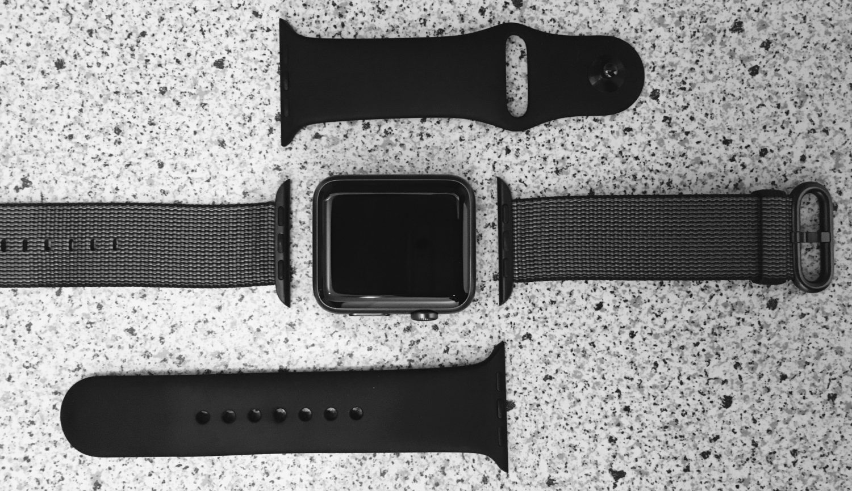 Meine Watch mit den verschiedenen Armbändern