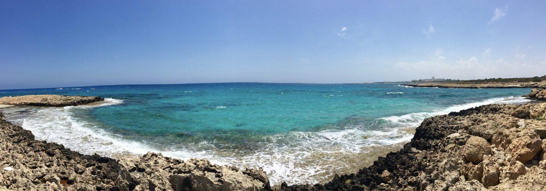 Panorama am Strand von Ayia Napa