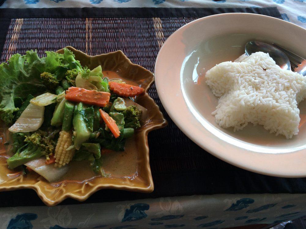 Thai Essen Grünes Curry