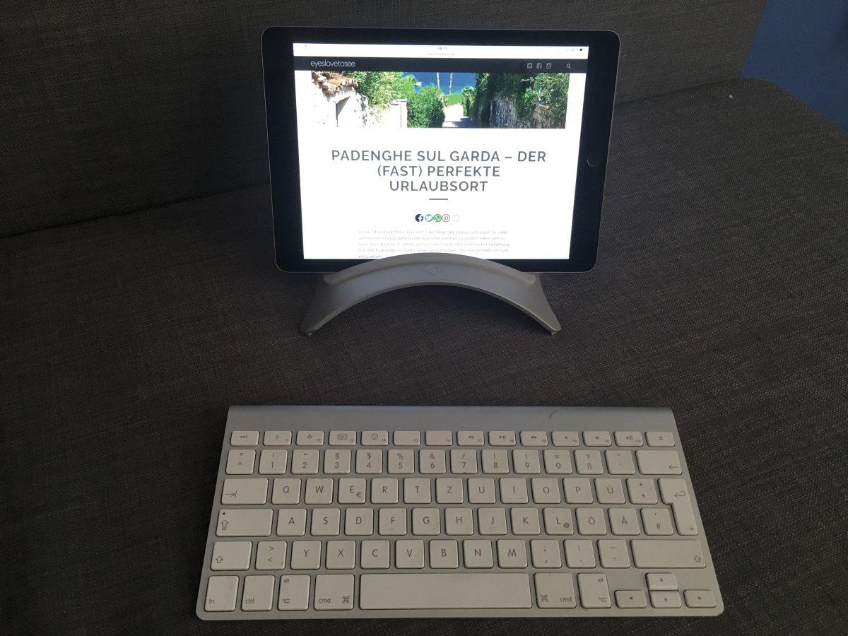 Mit der Bluetooth Tastatur von Apple schreibt es sich einfacher am iPad