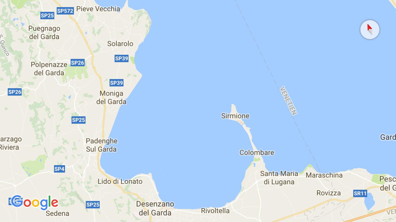 Die Südwest-Küste des Garda Sees
